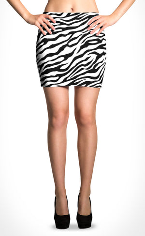 White Tiger Mini Skirt