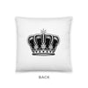 Black Queen Crown Pillow