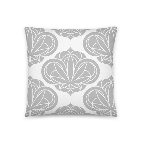 Grey Round Damask Pillow