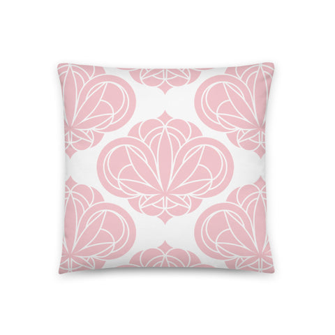 Pink Round Damask Pillow