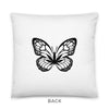 Black Butterfly Pillow