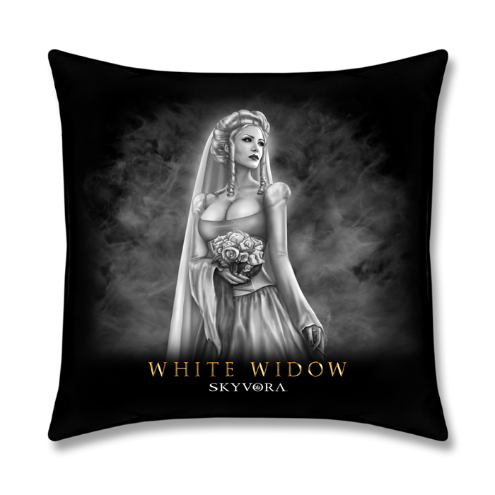 White Widow Pillow
