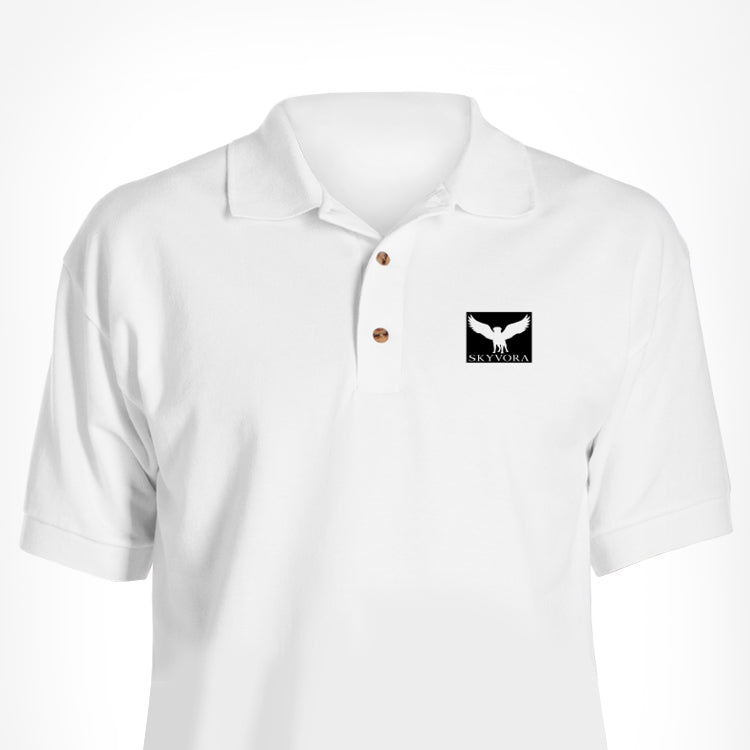White Skyvora Polo Square Logo