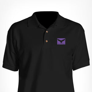 Black Skyvora Polo Square Logo