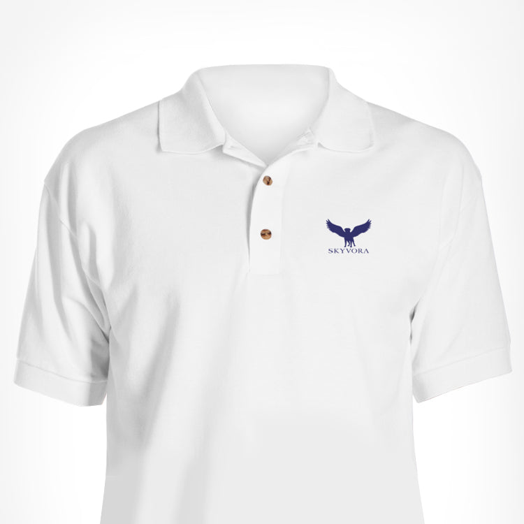 White Skyvora Polo with Letters