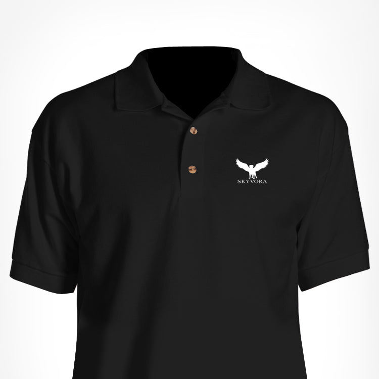 Black Skyvora Polo with Letters