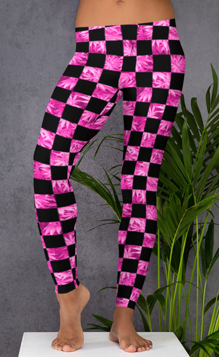 Checkerboard Plant Leggings