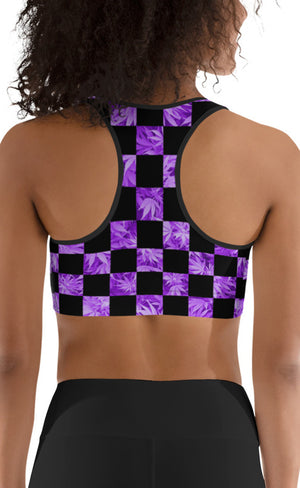 Checkerboard Sports Bra