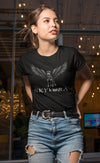 Women's Skyvora Black Tee