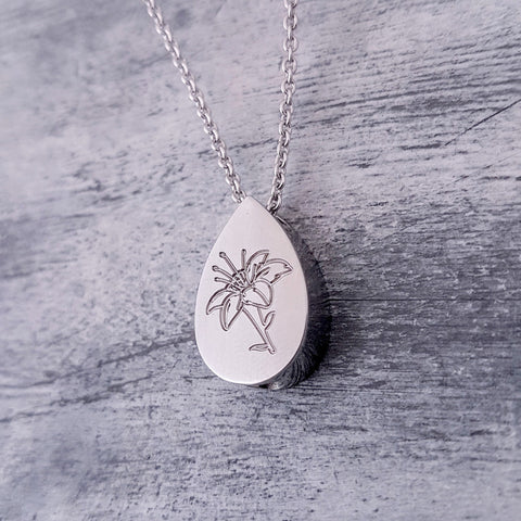 Ashes Cremation Extra Large Necklace with Personalised Picture