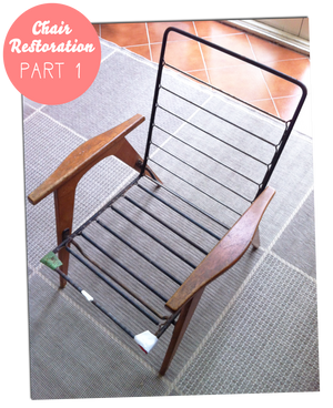 Restoring a lounge chair - Part 1