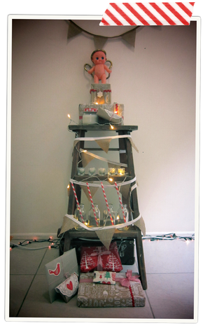Rustic Ladder Christmas Tree