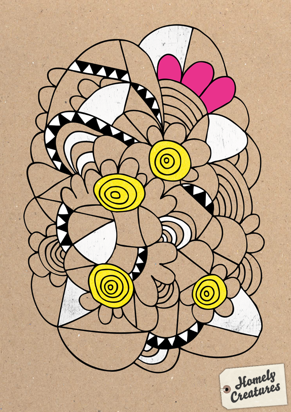 Wednesday's Doodle - Abstract Flowers