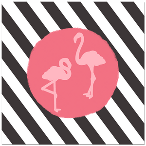 Striped Flamingos by Homely Creatures