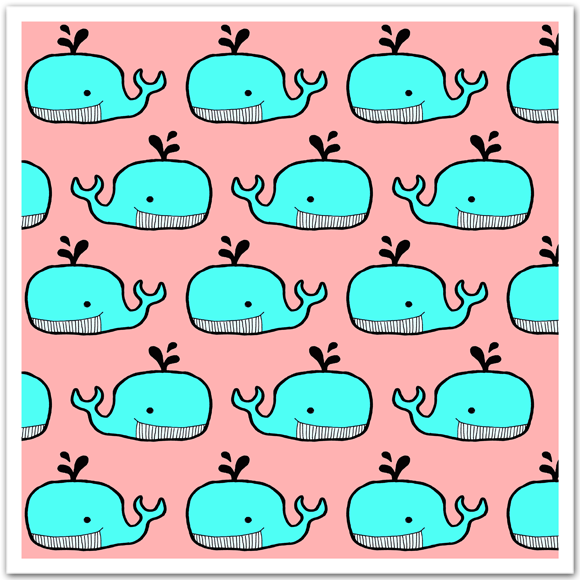 Whale Pattern by Homely Creatures