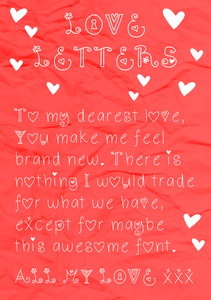 Love Letters Valentine's Font