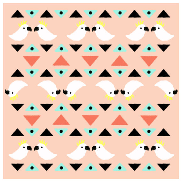 New Homely Creatures design pattern 'Cockatoo Geometric'