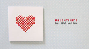 Tutorial and Free Printable Cross-stitch Heart Valentine's Card