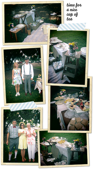 My Birthday tea party picnic!