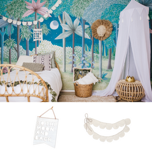 To Moon and Back + Petal Bunting