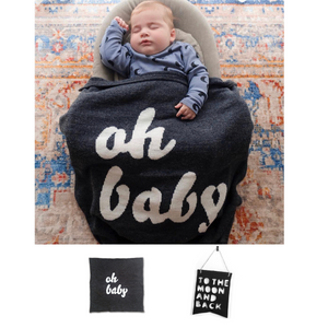 Oh Baby Blanket + To Moon & Back Banner
