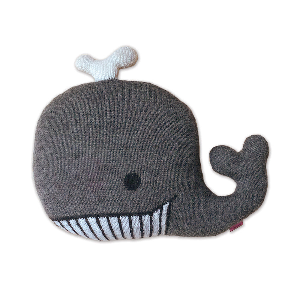 Knitted Whale Cushion | Whale Pillow