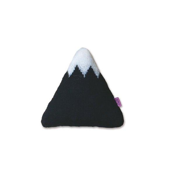 Knitted Mountain Cushion - Black (Small)