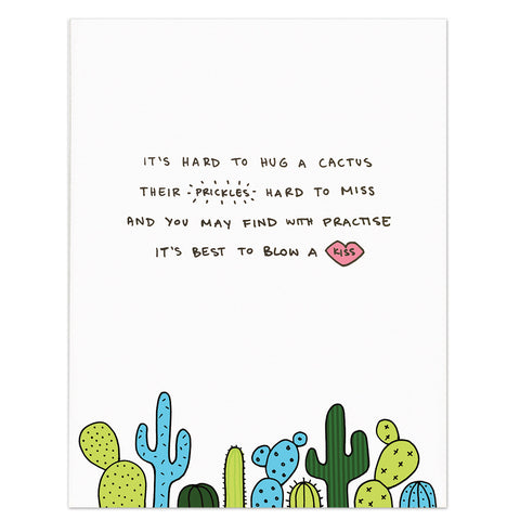 Poem Print/Poster (A4/A3) - It's Hard to Hug a Cactus