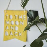'To the Moon and Back' Banners (various colours)