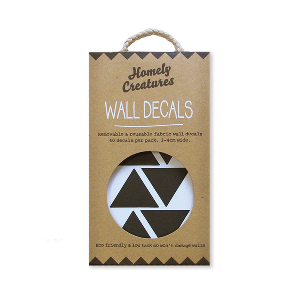 Black Triangle Wall Decals | Kids Bedroom Wall Decals