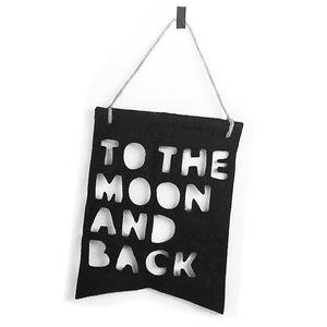White To The Moon & Back | I Love You To The Moon and Back Nursery Decor