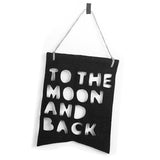 Black To The Moon & Back | I Love You To The Moon and Back Nursery Decor