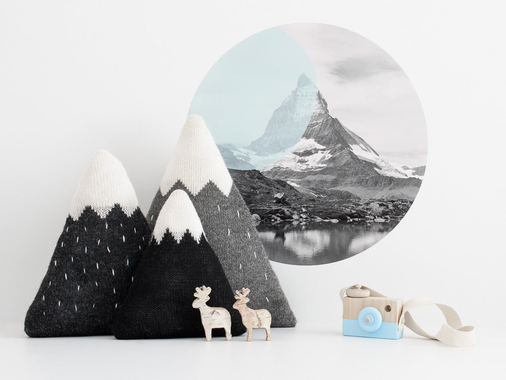 Knitted Mountain Cushions