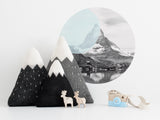 Mountain Cushion | Monochrome Nursery Décor