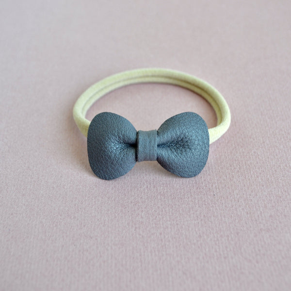 Petite Rose Bow headband - (Lavender Grey)
