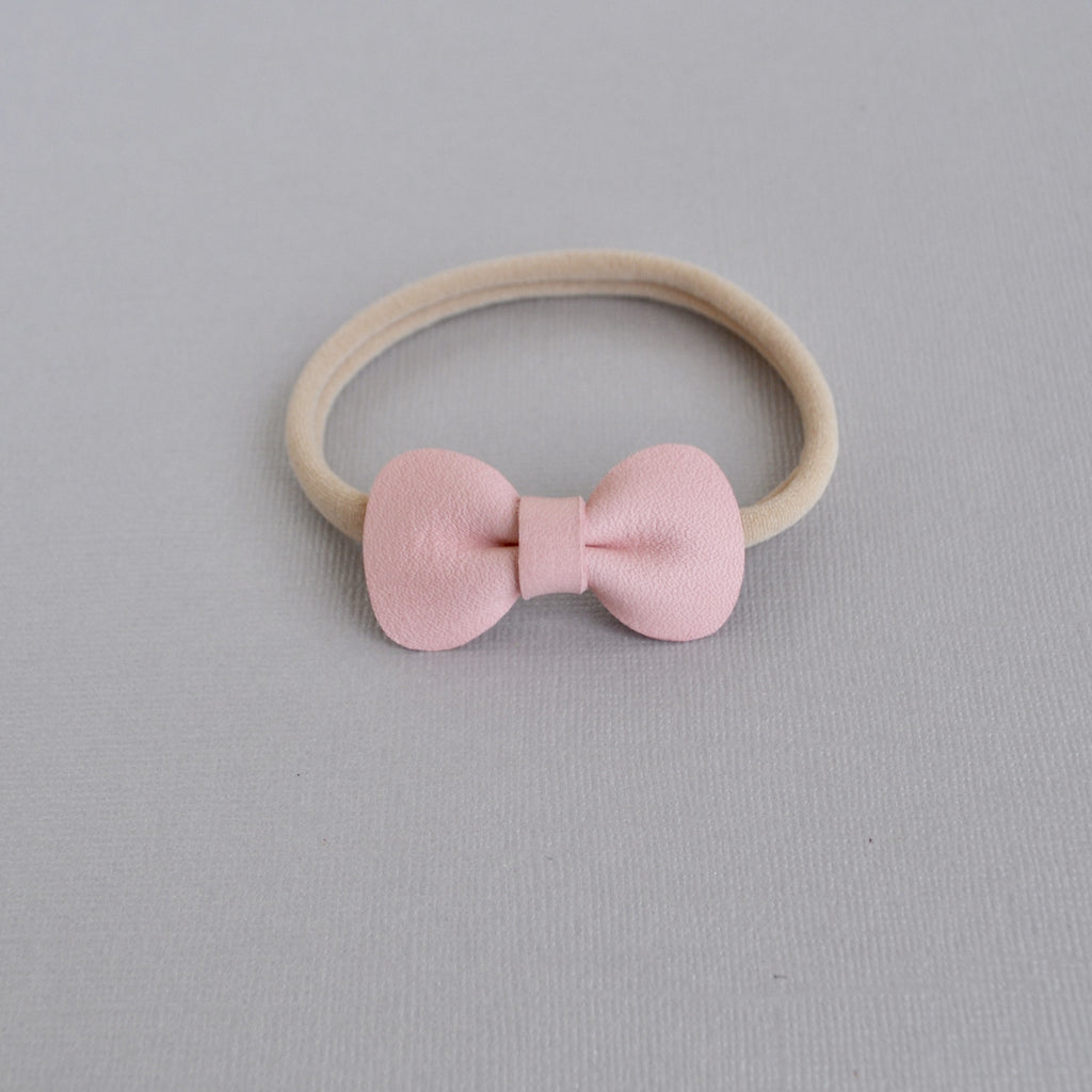 Petite Rose Bow headband - (Cherry Blossom)