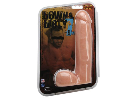 Topco Wildfire Down & Dirty 7 Inch Realistic PVC Dildo Light Package