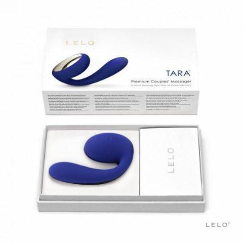 LELO Tara Rotating USB Rechargeable Clitoral and G-Spot Vibrator - Midnight Blue in Box