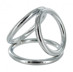 XR Triad LARGE Triple Cock Ring Set Angle