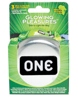 ONE Glowing Pleasures Condoms (Box of 3)