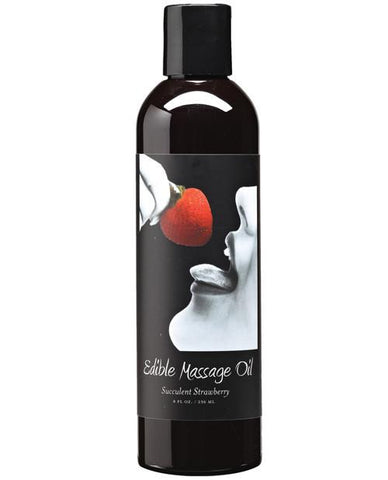Earthly Body Edible Massage Oil Strawberry - 8 oz.
