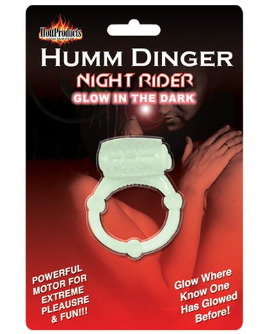 Humm Dinger Vibrating Cock Ring - Glow in the Dark