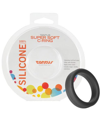 "Tantus 1.5"" Supersoft C-Ring - Black with Package"