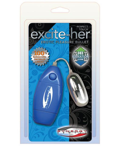 Perfect Touch Excite-Her Erotic Pleasure Bullet - Blue Package