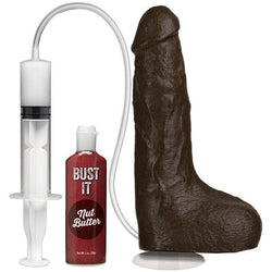 Bust It Ejaculating Realistic 9 Inch Dildo with Suction Cup - with accessories