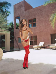 Thigh High Sheer Red Os Inmoulinin 1