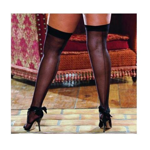 Thigh High Sheer Black Os Queen Inmoulinin_Back