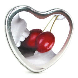 Edible Massage Oil Heart Candle 4.7oz/133g - Cherry