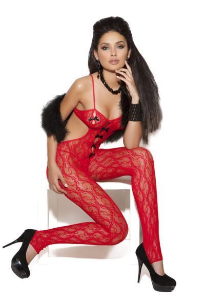 Body Stocking Red O/S 1