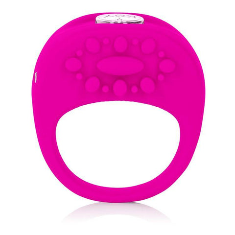 Jopen Key Ela Rechargeable Vibrating Cock Ring - Pink